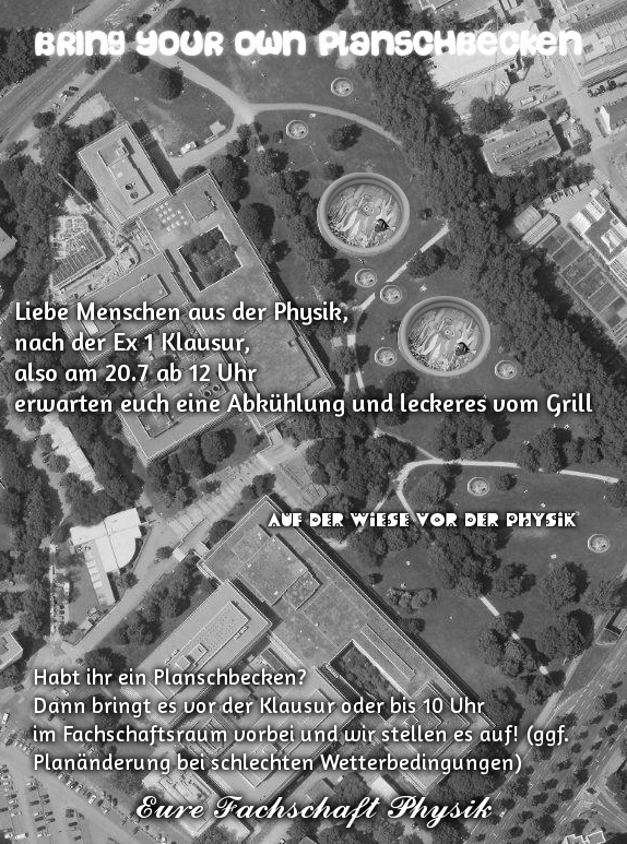 Flyer Planschbeckenparty