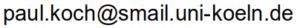 Hier sollte Pauls E-Mailadresse angezeigt werden.